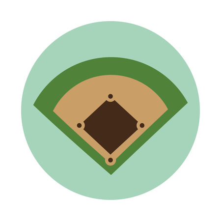 baseball diamond: baseball camp diamond icon vector illustration design