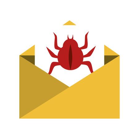 adware: virus infection bug icon vector illustration design