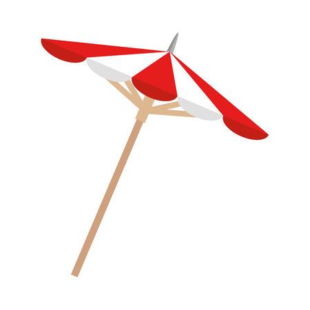 umbrella element isolated icon vector illustration design