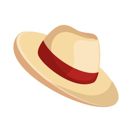 strand hoed panama pictogram vectorillustratieontwerp