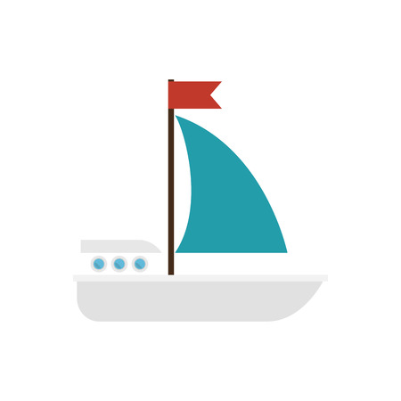 maritime: sailboat maritime isolated icon vector illustration design