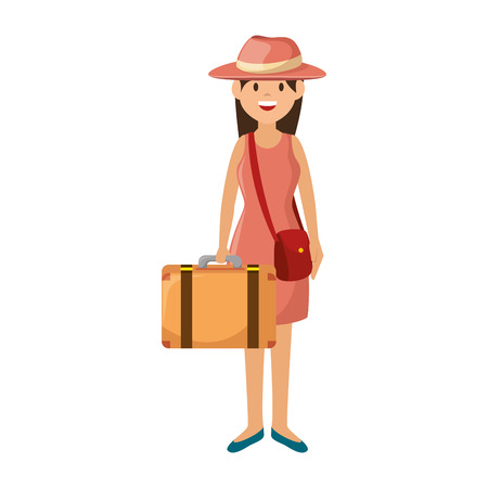 family: cute family member on vacations vector illustration design