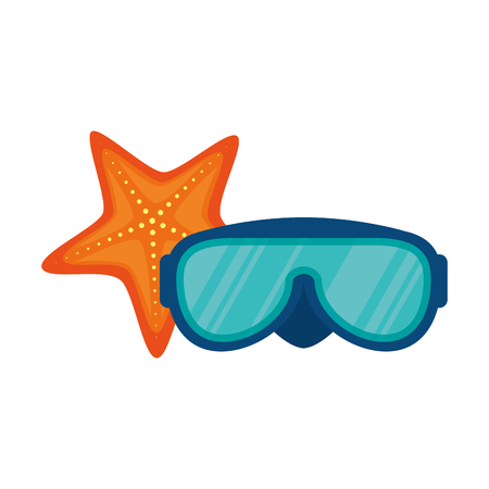 swimming glasses: diving glasses isolated icon vector illustration design