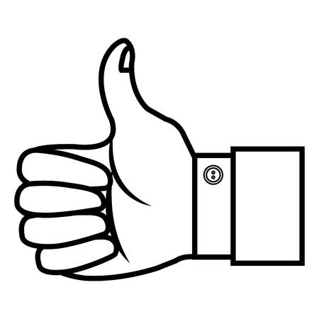 human like: hand human like isolated icon vector illustration design