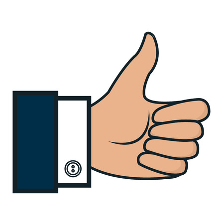confirmed: hand human like isolated icon vector illustration design