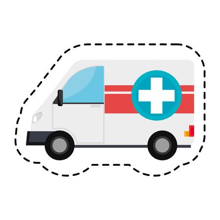 ambulance emergency vehicle icon vector illustration design Illustration