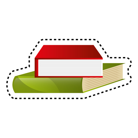 books library isolated icon vector illustration design