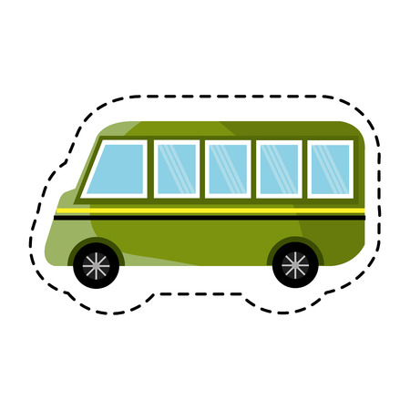 schoolbus: bus vehicle isolated icon vector illustration design Illustration