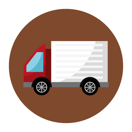 truck delivery vehicle isolated icon vector illustration design
