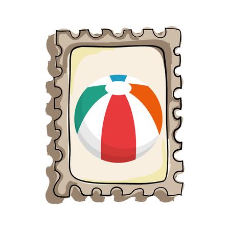inflatable ball: beach balloon isolated icon vector illustration design