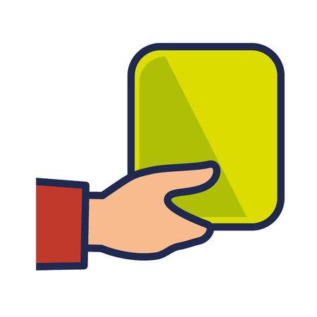 hand human with square vector illustration design Illustration