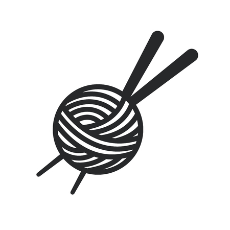tailored: Thread Spool and needle icon over white background. tailor shop concept. vector illustration