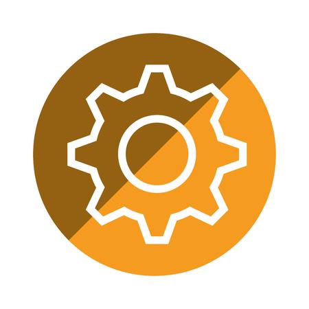 mechanism of progress: gear machine isolated icon vector illustration design Illustration