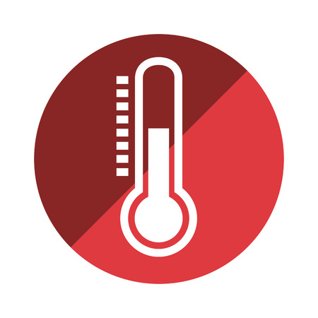 termometer: thermometer temperature measure icon vector illustration design