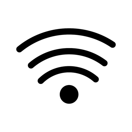 wifi sign isolated icon vector illustration design Stock Photo