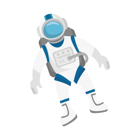 spacesuit: astronaut in space character vector illustration design