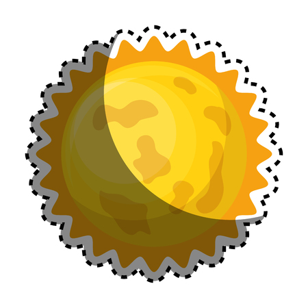astronomical: astronomical sun isolated icon vector illustration design Illustration