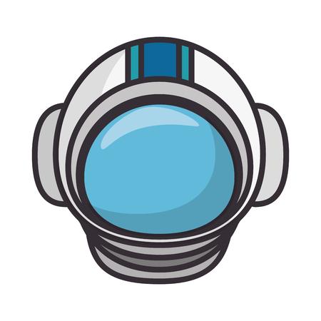 astronaut helmet isolated icon vector illustration design