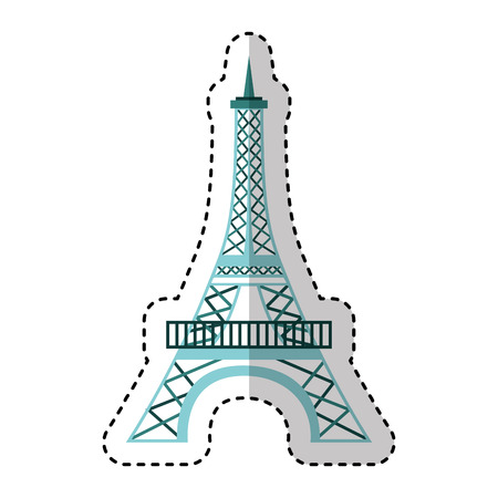 eiffel tower isolated icon vector illustration design 向量圖像