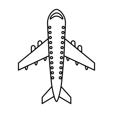 business flying: airplane flying isolated icon vector illustration design