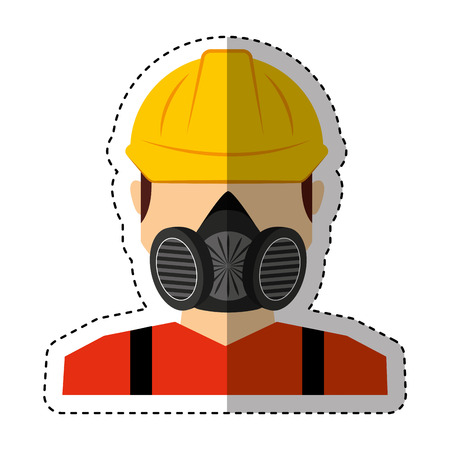 protective suit: worker avatar with safety suit vector illustration design