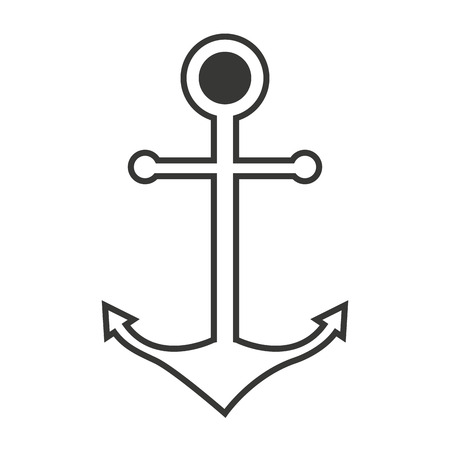 maritime: anchor maritime isolated icon vector illustration design