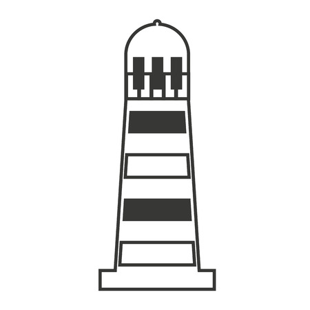 maritime: light house maritime isolated icon vector illustration design