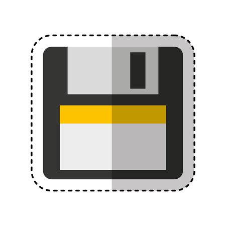floppy: floppy disk isolated icon vector illustration design