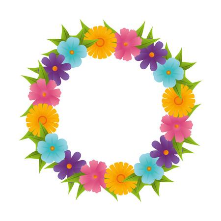 design: floral cute frame decorative vector illustration design Illustration
