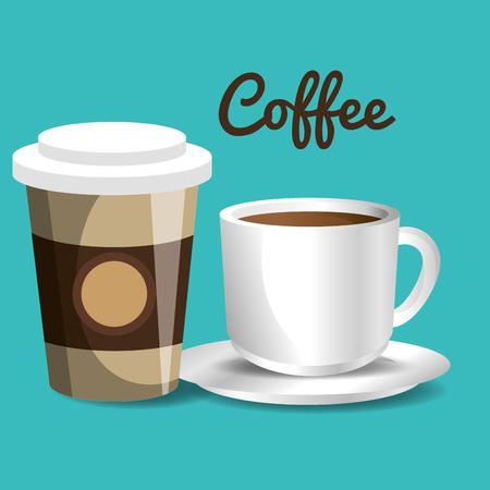 delicious coffee always fresh poster vector illustration design
