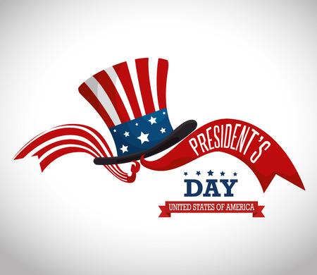 happy presidents day poster vector illustration design