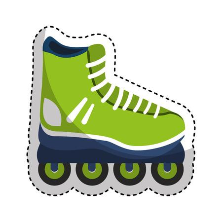skate line isolated icon vector illustration design
