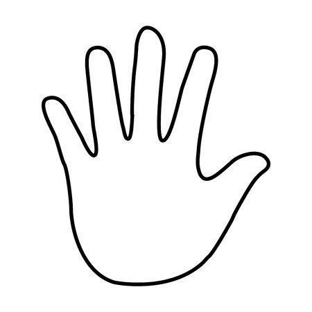 charity work: hand human silhouette icon vector illustration design Illustration
