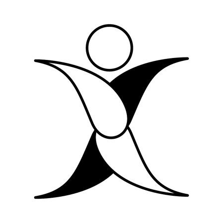 user friendly: human silhouette ecology icon vector illustration design Illustration