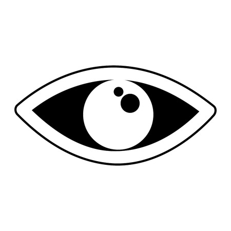 eye human sign isolated icon vector illustration design Illustration