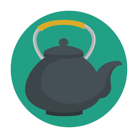 teapot classic isolated icon vector illustration design