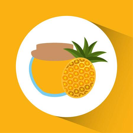 Preserved fresh fruit icon vector illustration design