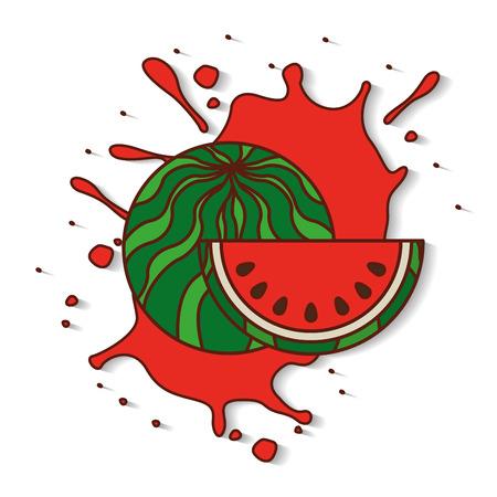 flavor: fresh fruit splash juice vector illustration design Illustration