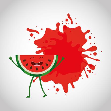 fresh fruit comic character vector illustration design Illustration