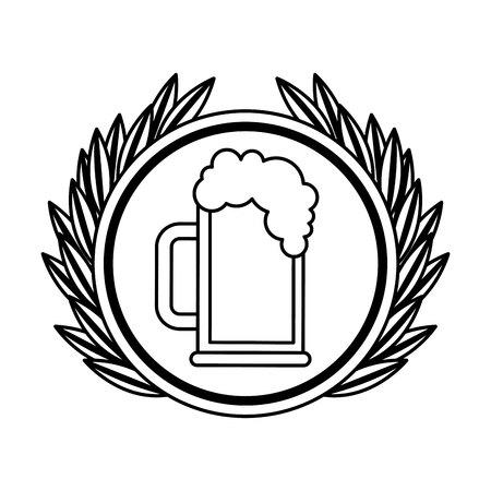 jarra de cerveza: beer jar drink isolated icon vector illustration design