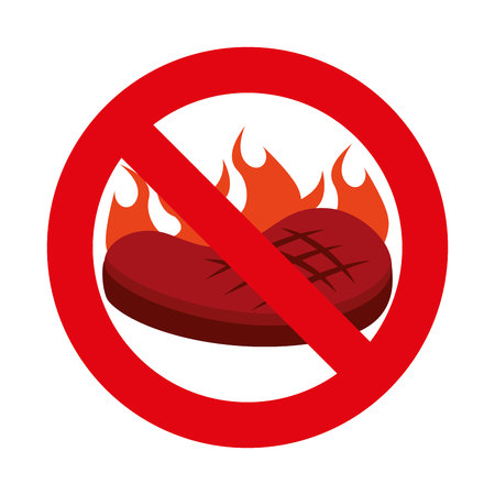 junkfood: Forbidden fast food sign vector illustration design Illustration
