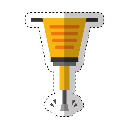 空気圧ハンマー ツール アイコン ベクトル イラスト デザインを分離しました。  イラスト・ベクター素材