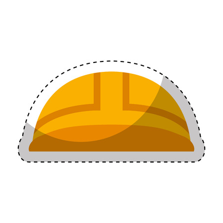 construction helmet isolated icon vector illustration design Stock Photo