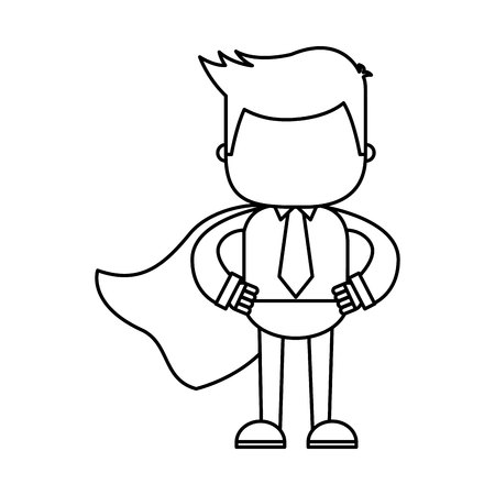 businessman funny with hero layer character icon vector illustration design Illustration