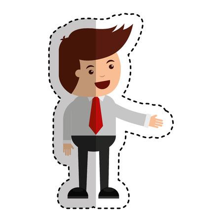 businessman funny character icon vector illustration design Illustration
