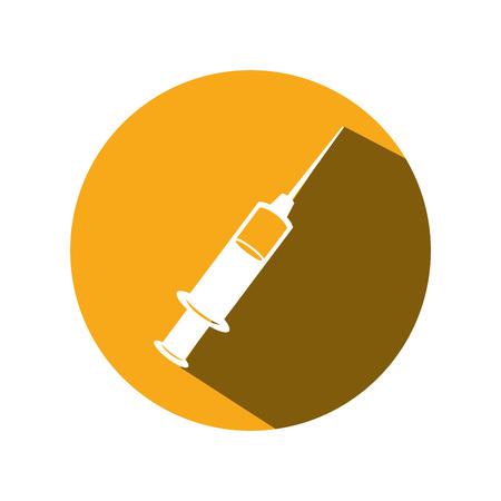 syringe medical isolated icon vector illustration design