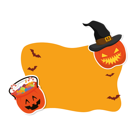 halloween card party invitation vector illustration design