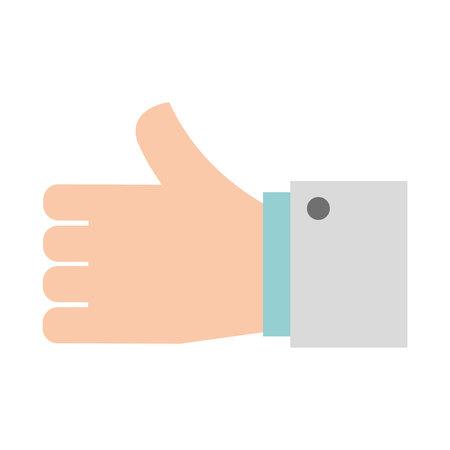 human like: hand human like icon vector illustration design