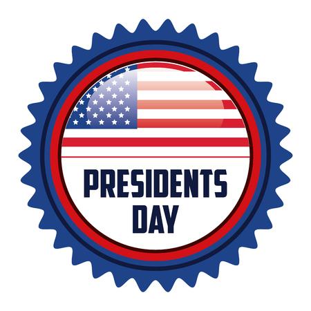 presidentes felices cartel día ilustración vectorial de diseño