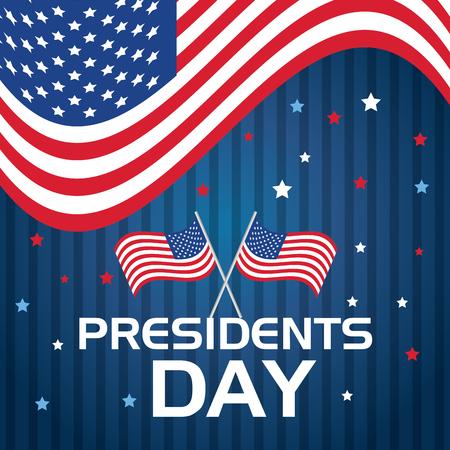 happy presidents day poster vector illustration design Vector Illustration